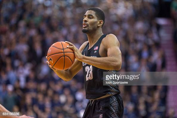 Georgetown Hoyas guard Rodney Pryor looks to pass during the college basketball game between the Georgetown Hoyas and the Villanova Wildcats on...