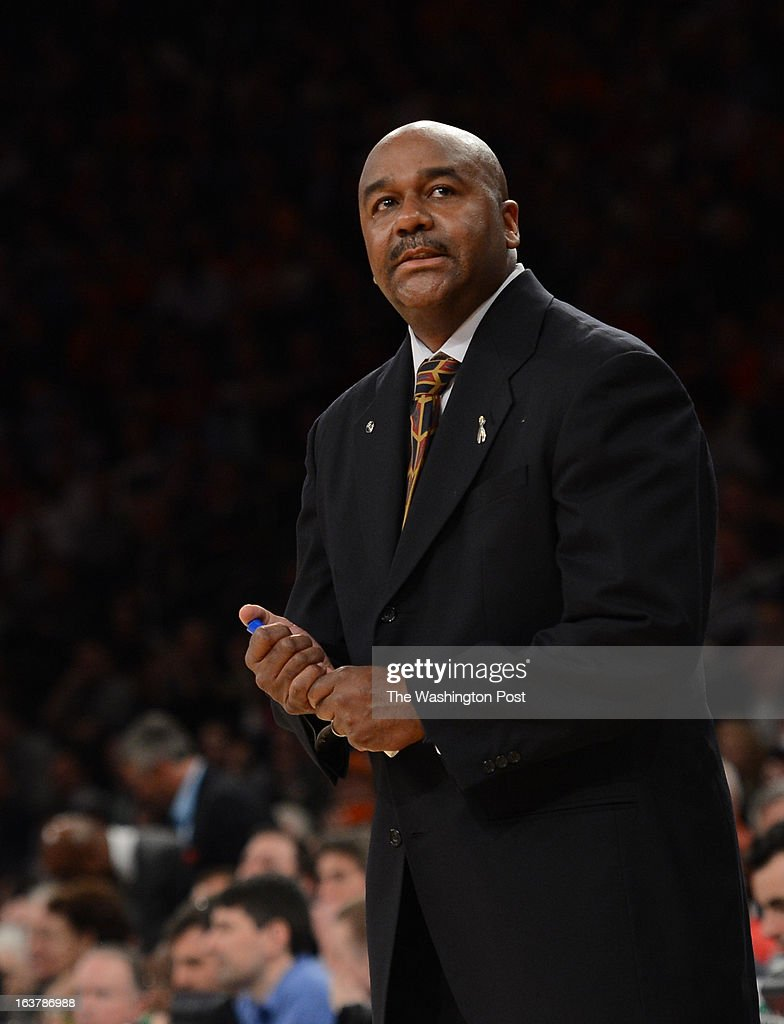 Georgetown Hoyas head coach John Thompson III during the second half of a Semifinal Round game of the Big East Championship at Madison Square Garden on Friday, March 15, 2013. The Georgetown Hoyas lost to the Syracuse Orange 58-55 in overtime.