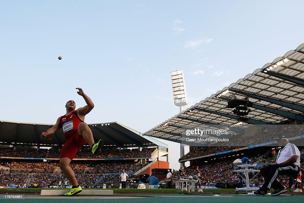 Georgi Ivanov of Bulgaria competes in the Mens Shot Put during the 2013 Belgacom Memorial Van Damme IAAF Diamond League meet at The King Baudouin Stadium on September 6, 2013 in Brussels, Belgium.