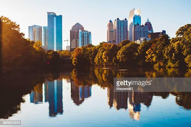 USA, Georgia, Atlanta, Piedmont Park, Tilt-Shifted