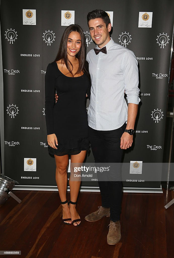 Georgia Berg and Scott Tweedie pose during Luna Park's 2014 Valentine's event at Luna Park on February 12, 2014 in Sydney, Australia.