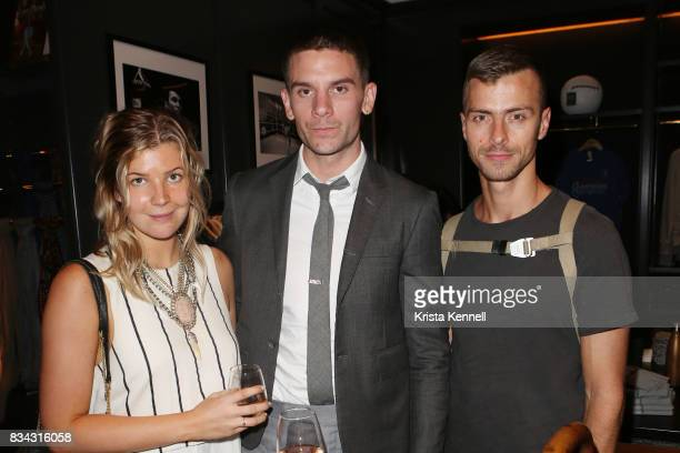 Georgia Bishop Michael O'Connor and Ian Bisioion attend Todd Snyder x Akin's Army Collaboration Launch at Todd Snyder Flagship Store on August 17...