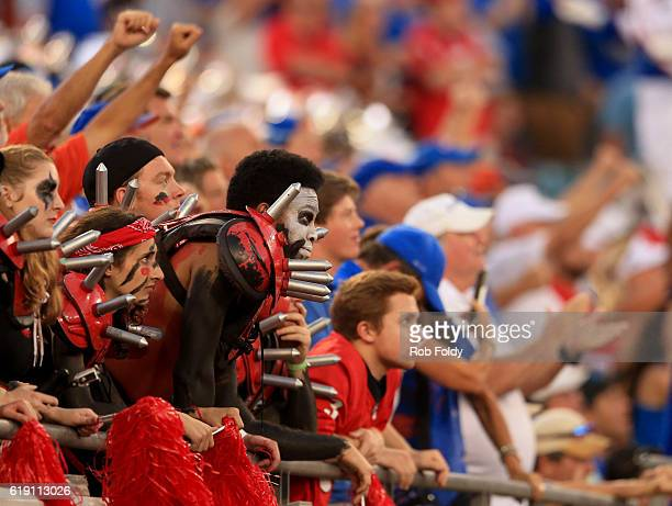 Georgia Bulldogs fans react during the fourth quarter of the game against the Florida Gators at EverBank Field on October 29 2016 in Jacksonville...