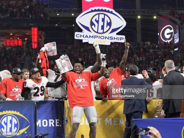 Georgia Bulldogs running back DAndre Swift during the SEC Championship game between the Georgia Bulldogs and the Auburn Tigers on December 02 at...