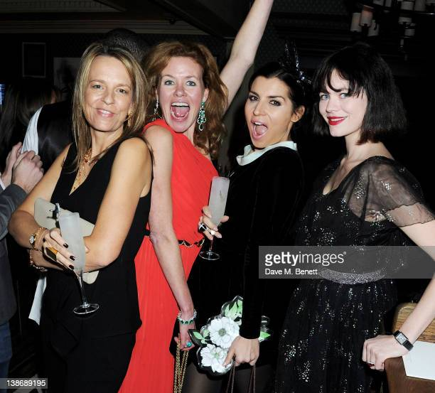 Georgia Byng Erin Morris Grace Woodward and Jasmine Guinness attend The Weinstein Company Dinner Hosted By Grey Goose in celebration of BAFTA at Dean...