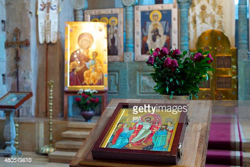 Georgia church altar : Stock Photo