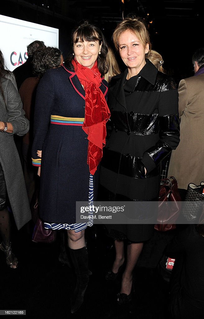 Georgia Coleridge (L) and Caroline Michel attend the Anya Hindmarch Autumn/Winter 2013 presentation during London Fashion Week at P3 on February 19, 2013 in London, England.
