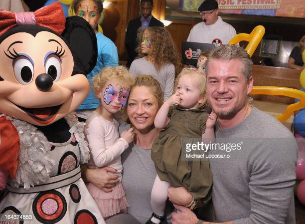 Georgia Dane actress Rebecca Gayheart Billie Beatrice Dane and actor Eric Dane attend Disney Live Mickey's Music Festival at Madison Square Garden on...