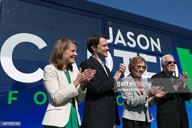 Georgia Democratic gubernatorial candidate and State Sen Jason Carter campaigns with his wife Kate Carter and his grandparents former US President...