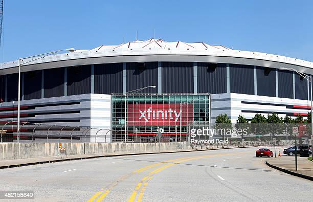 Georgia Dome home of the Atlanta Falcons football team and Georgia State Panthers football team on July 18 2015 in Atlanta Georgia