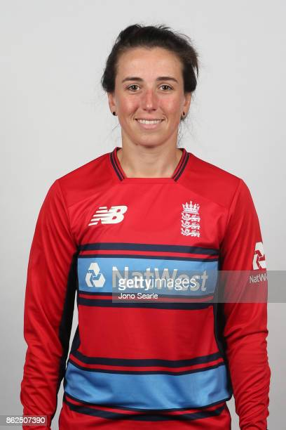 Georgia Elwiss poses during the England women's Test headshots session on October 13 2017 in Brisbane Australia