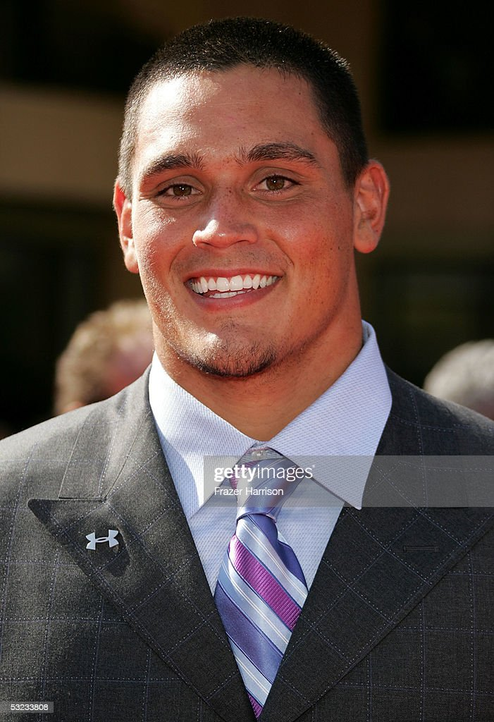 Georgia football player David Pollack arrives at the 13th Annual ESPY Awards at the Kodak Theatre on July 13 2005 in Hollywood California