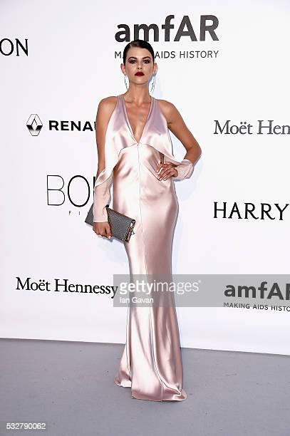 Georgia Fowler arrives at amfAR's 23rd Cinema Against AIDS Gala at Hotel du CapEdenRoc on May 19 2016 in Cap d'Antibes France