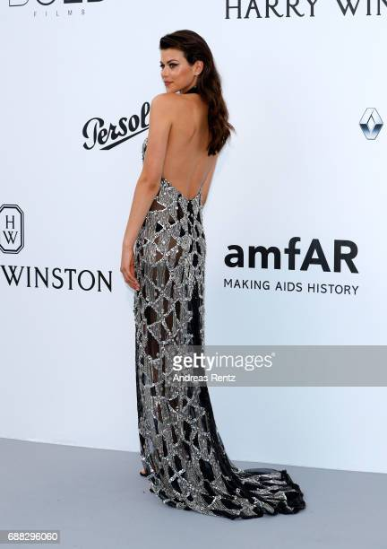 Georgia Fowler arrives at the amfAR Gala Cannes 2017 at Hotel du CapEdenRoc on May 25 2017 in Cap d'Antibes France