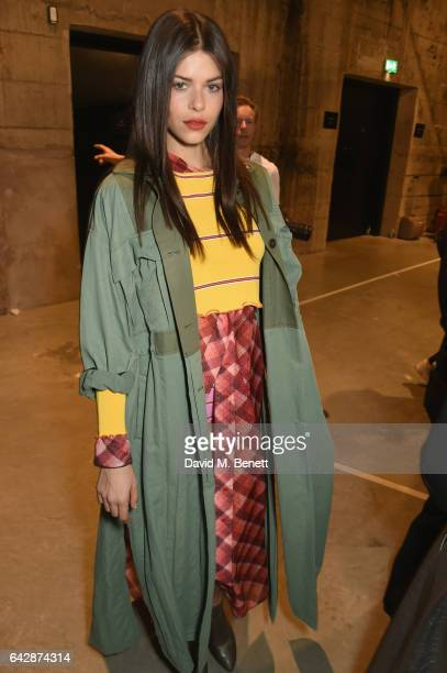 Georgia Fowler attends Topshop's London Fashion Week show at Tate Modern on February 19 2017 in London England