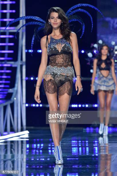 Georgia Fowler walks the runway at the 2017 Victoria's Secret Fashion Show In Shanghai Show at MercedesBenz Arena on November 20 2017 in Shanghai...