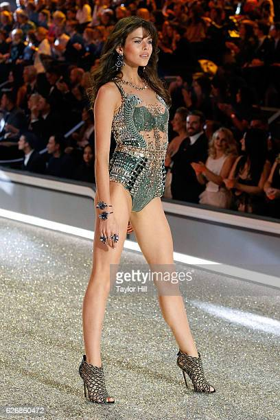 Georgia Fowler walks the runway during the 2016 Victoria's Secret Fashion Show at Le Grand Palais on November 30 2016 in Paris France