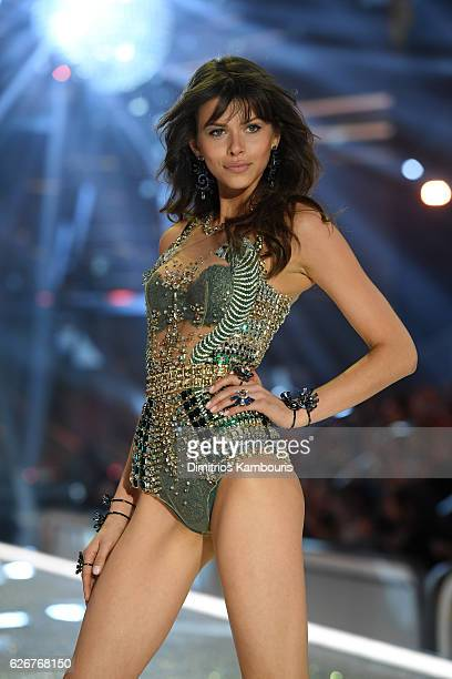 Georgia Fowler walks the runway during the 2016 Victoria's Secret Fashion Show on November 30 2016 in Paris France