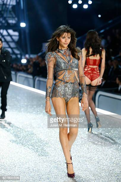 Georgia Fowler walks the runway with Swarovski crystals during Victoria's Secret Fashion Show on November 30 2016 in Paris France