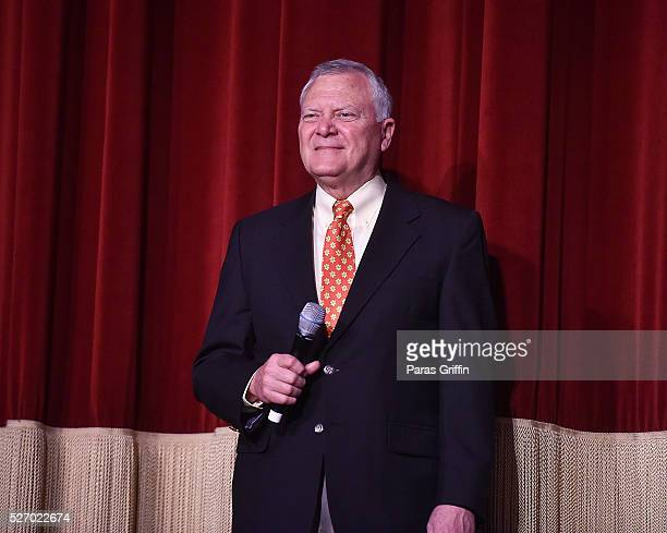 Georgia Governor Nathan Deal speaks onstage at 'Captain America Civil War' Atlanta Cast Filmmakers screening at The Fox Theatre on May 1 2016 in...