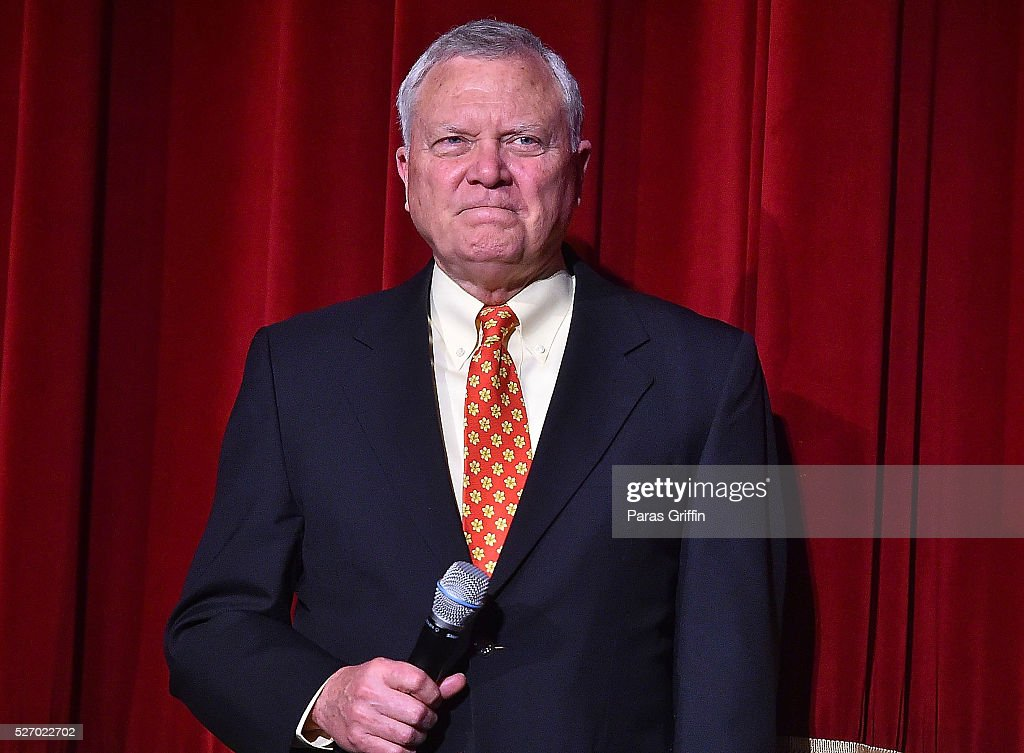 Georgia Governor <a gi-track='captionPersonalityLinkClicked' href=/galleries/search?phrase=Nathan+Deal&family=editorial&specificpeople=2365923 ng-click='$event.stopPropagation()'>Nathan Deal</a> speaks onstage at 'Captain America: Civil War' Atlanta Cast & Filmmakers screening at The Fox Theatre on May 1, 2016 in Atlanta, Georgia.