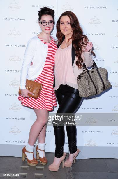 Georgia Harrup and Talia Smith attending the Baileys Feaster Egg Hunt at Harvey Nichols in London