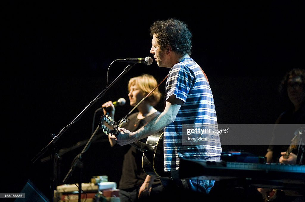 Georgia Hubley and Ira Kaplan of Yo La Tengo perform on stage during Festival del Mil.lenni at L'Auditori on March 6, 2013 in Barcelona, Spain.