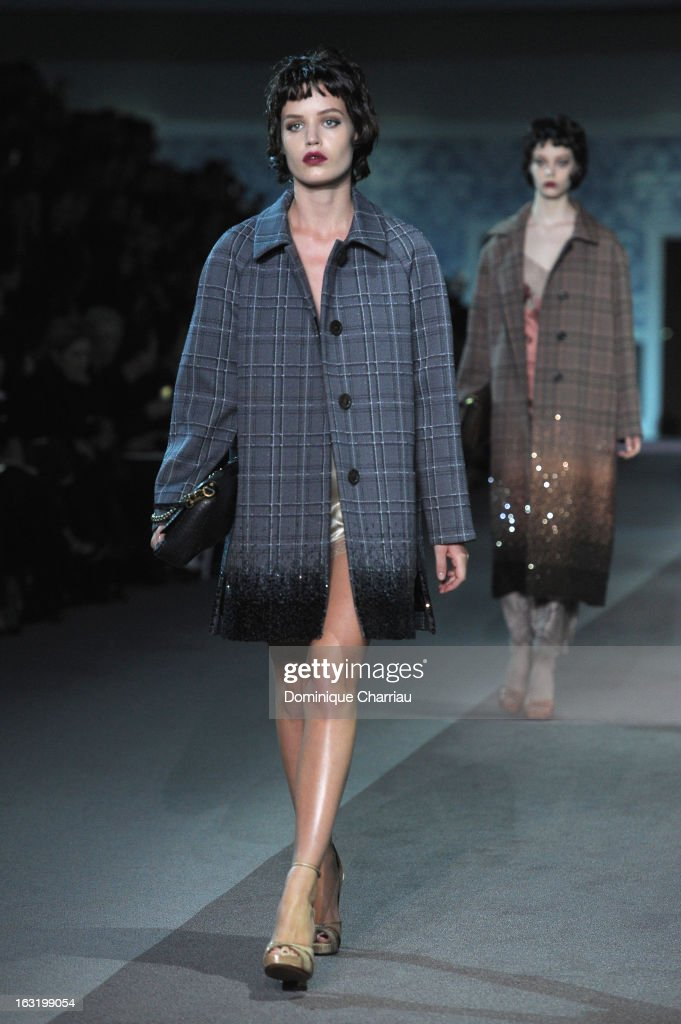 <a gi-track='captionPersonalityLinkClicked' href=/galleries/search?phrase=Georgia+Jagger&family=editorial&specificpeople=2079186 ng-click='$event.stopPropagation()'>Georgia Jagger</a> walks the runway during the Louis Vuitton Fall/Winter 2013 Ready-to-Wear show as part of Paris Fashion Week on March 6, 2013 in Paris, France.