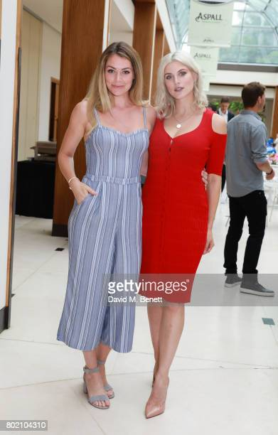 Georgia Jones and Ashley James attend the Aspall Tennis Classic at The Hurlingham Club on June 27 2017 in London England