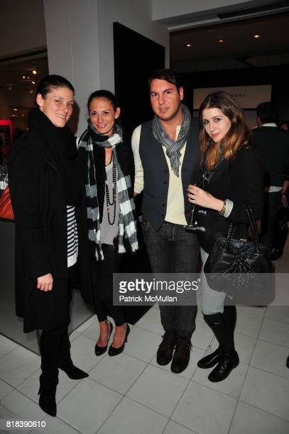 Georgia Kakiris Liv Odegard Gregory Littley and Rebecca Daly attend EQUIPMENT Launch Party hosted by BECKA DIAMOND and SERGE AZRIA at Saks Fifth...