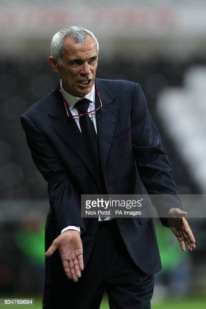 Georgia manager Hector Cuper gestures on the touchline