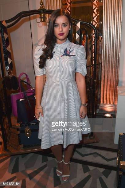 Georgia May Foote attends the Aspinal of London presentation during London Fashion Week September 2017 on September 18 2017 in London England