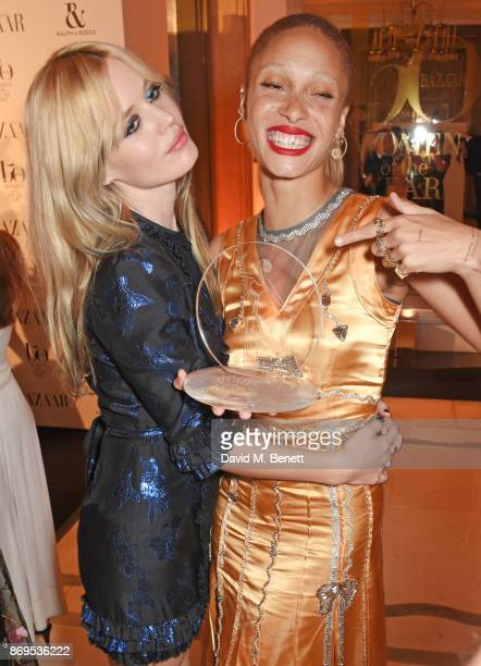 Georgia May Jagger and Adwoa Aboah winner of the Role Model award attends Harper's Bazaar Women of the Year Awards in association with Ralph Russo...