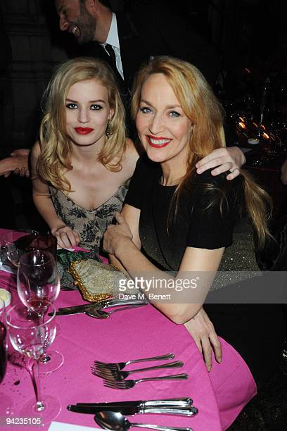 Georgia May Jagger and Jerry Hall attend the British Fashion Awards at the Royal Courts of Justice Strand on December 9 2009 in London England