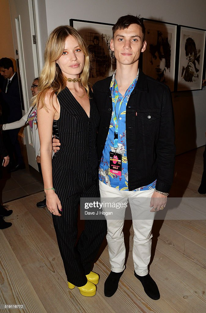 Georgia May Jagger (L) and Josh McLellan attend an after party for 'The Rolling Stones: Exhibitionism' at Saatchi Gallery on April 4, 2016 in London, England.