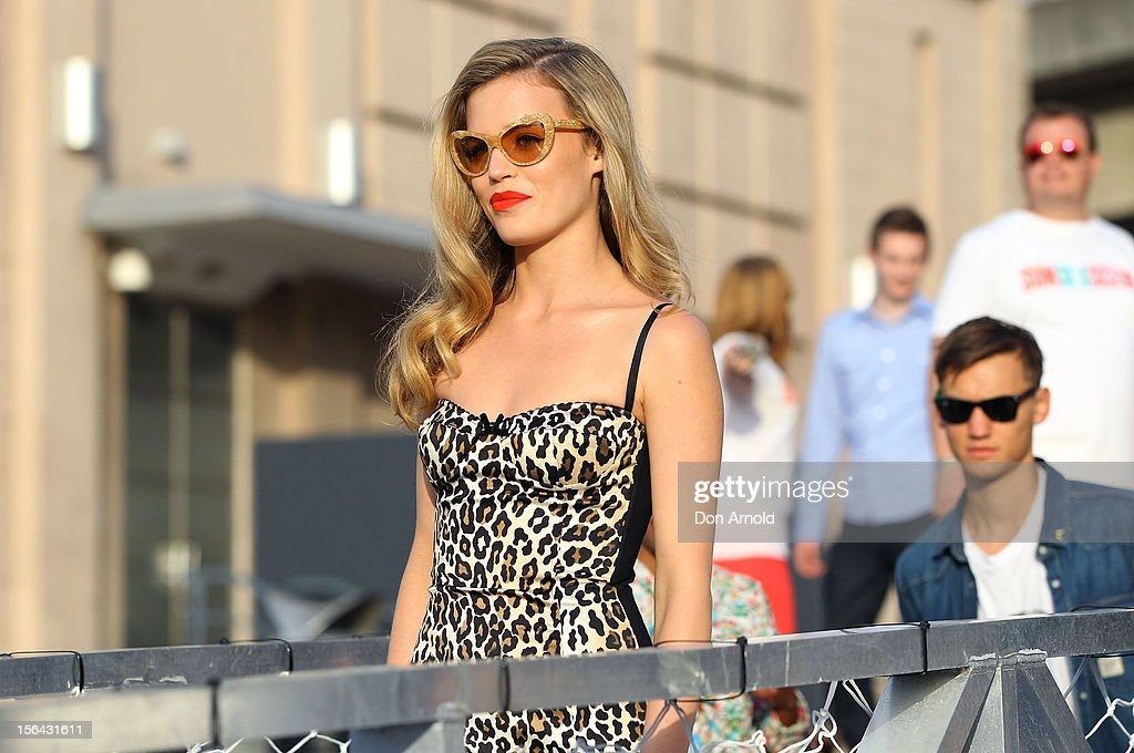 Georgia May Jagger arrives for a Sunglasses Hut promotion at Darling Harbour on November 15, 2012 in Sydney, Australia.