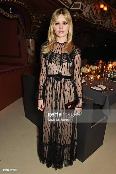 Georgia May Jagger attends a drinks reception at the British Fashion Awards in partnership with Swarovski at the London Coliseum on November 23 2015...