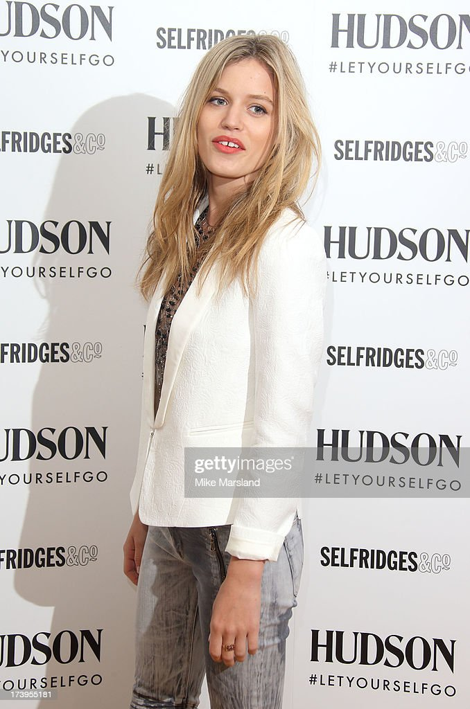 Georgia May Jagger attends a photocall to launch the Hudson Jeans AW13 campaign at Selfridges on July 18, 2013 in London, England.