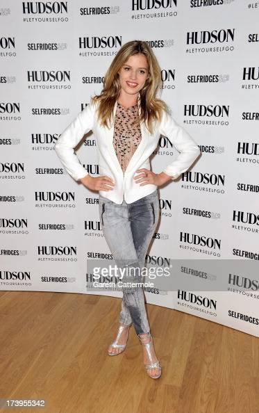 Georgia May Jagger attends a photocall to launch the Hudson Jeans AW13 campaign at Selfridges on July 18 2013 in London England