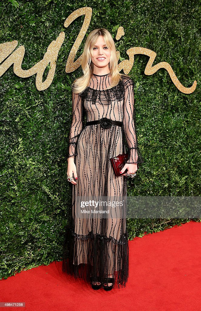 Georgia May Jagger attends the British Fashion Awards 2015 at London Coliseum on November 23, 2015 in London, England.