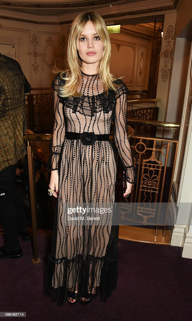 Georgia May Jagger attends the British Fashion Awards in partnership with Swarovski at the London Coliseum on November 23 2015 in London England