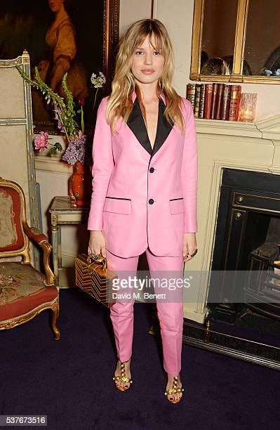 Georgia May Jagger attends the Gucci party at 106 Piccadilly in celebration of the Gucci Cruise 2017 fashion show on June 2 2016 in London England