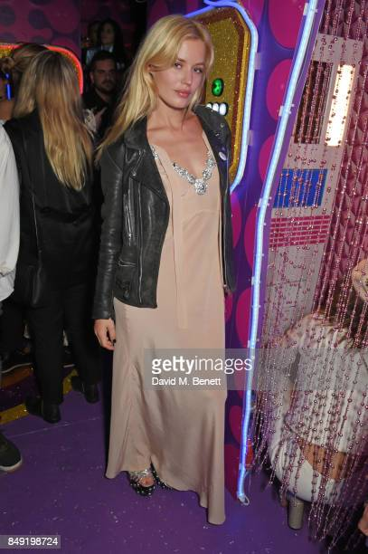 Georgia May Jagger attends the LOVE magazine x Miu Miu party held during London Fashion Week at Loulou's on September 18 2017 in London England
