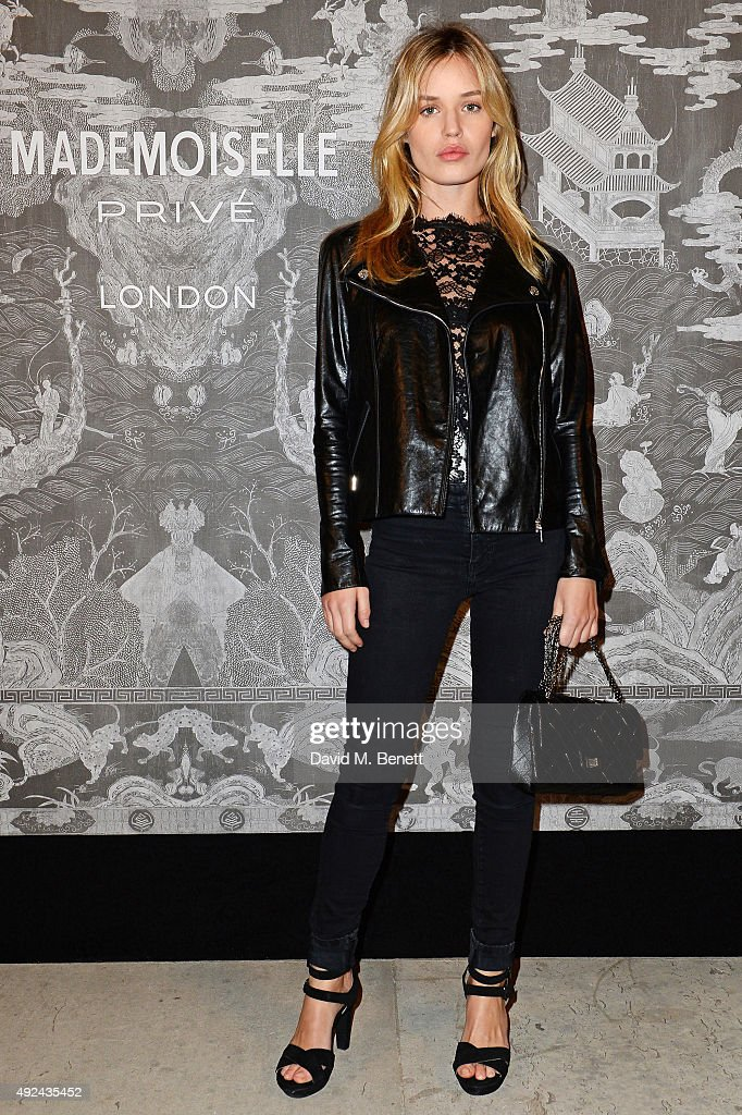 Georgia May Jagger attends the Mademoiselle Prive Exhibition at the Saatchi Gallery on October 12, 2015 in London, England.