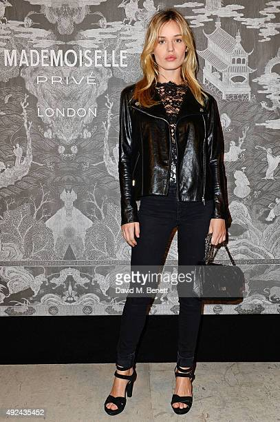 Georgia May Jagger attends the Mademoiselle Prive Exhibition at the Saatchi Gallery on October 12 2015 in London England