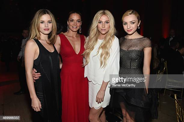 Georgia May Jagger Cofounder Delete Blood Cancer Katharina Harf Kesha and Peyton List attend the 9th Annual Delete Blood Cancer Gala on April 16 2015...