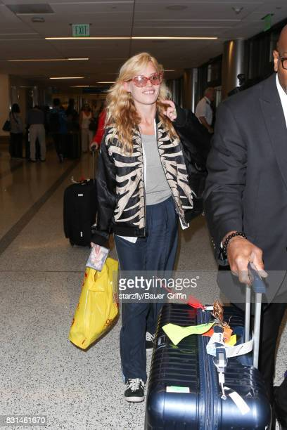 Georgia May Jagger is seen at LAX on August 14 2017 in Los Angeles California