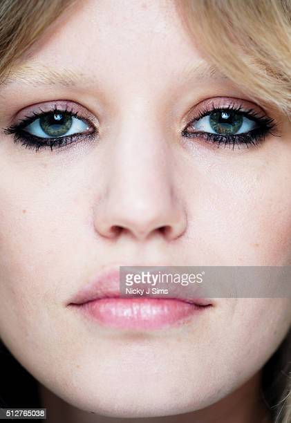 Georgia May Jagger is seen backstage prior to the Ashley Williams show on day 5 of London Fashion Week Autumn Winter 2016 at BFC Showspace on...