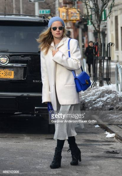 Georgia May Jagger is seen on February 13 2014 in New York City