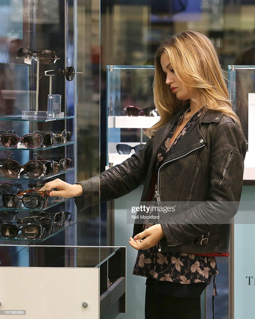 Georgia May Jagger is seen shopping at Sunglass Hut in Covent Garden on November 27, 2012 in London, England.